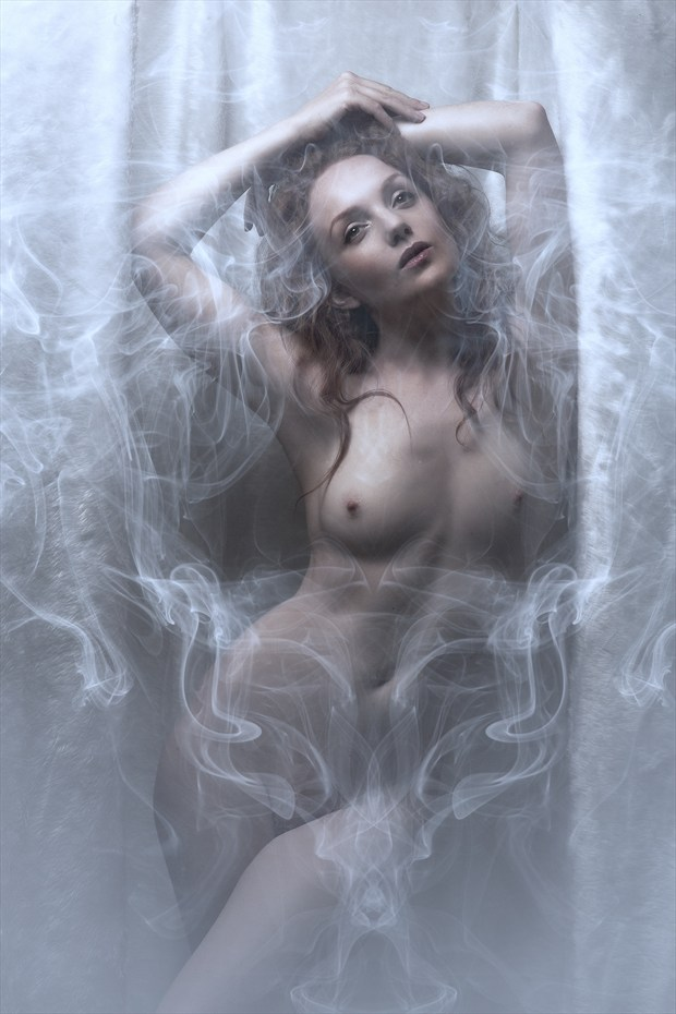 Ivory and Smoke Artistic Nude Photo print by Photographer Ray Kirby