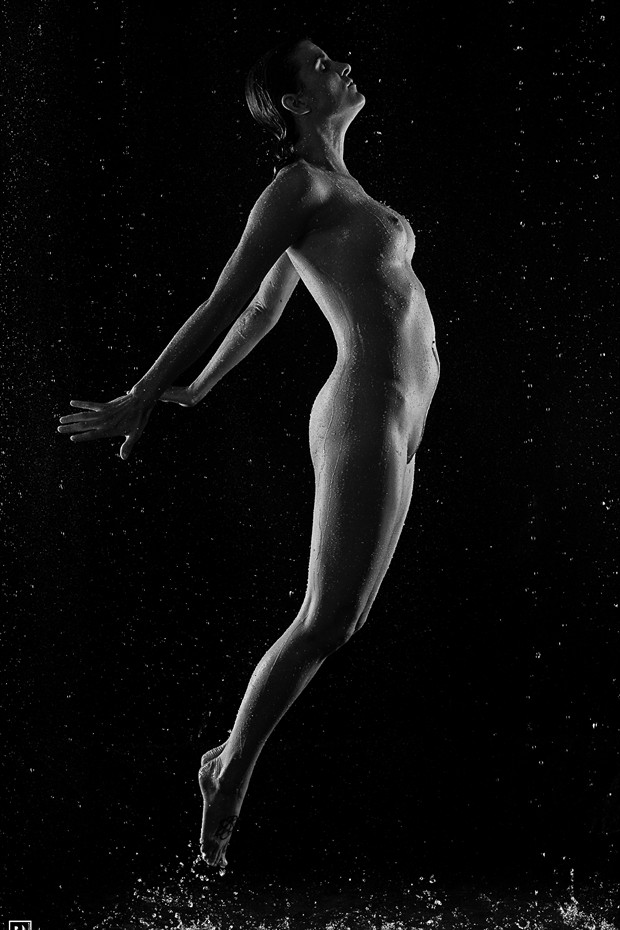 Jump Artistic Nude Photo print by Photographer Thom Peters Photog