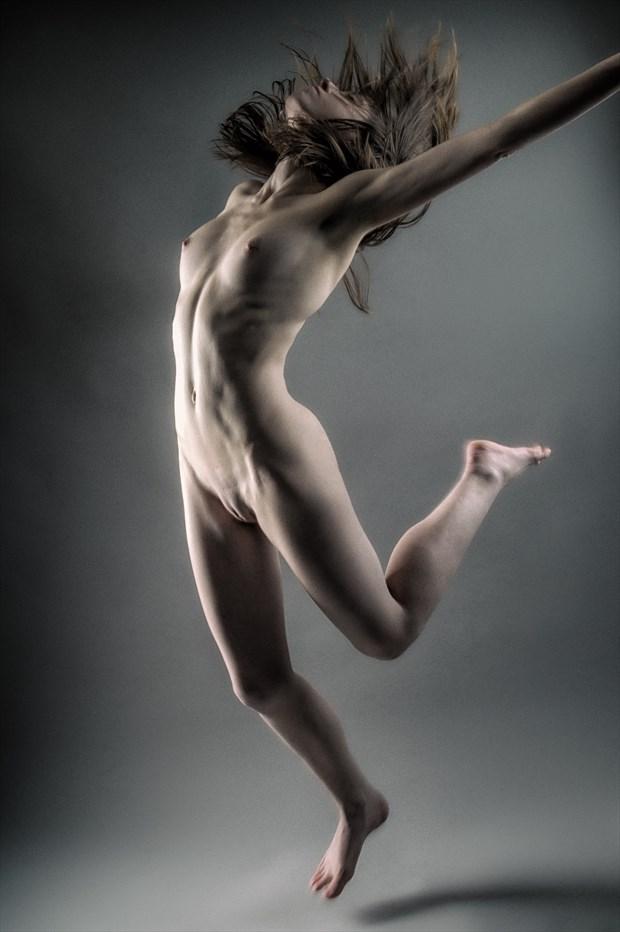 Jump for Joy! Artistic Nude Photo print by Photographer rick jolson