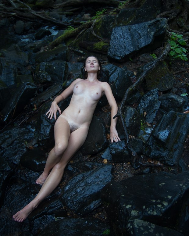 Katja on the Rocks Artistic Nude Photo print by Photographer mikaelr