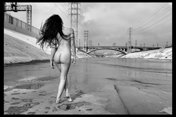 Kelsey in LA river Artistic Nude Photo print by Photographer pblieden
