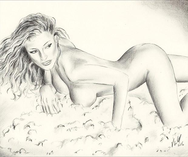 Kerri Kendall Artistic Nude Artwork print by Artist Vincent_Wolff_Art