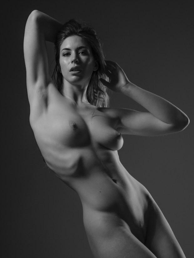 Lighting Study of Elle Beth Artistic Nude Photo print by Photographer Mark Davy Jones