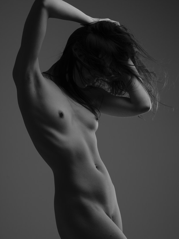 Lighting exorcise with Kayleigh Artistic Nude Photo print by Photographer Mark Davy Jones