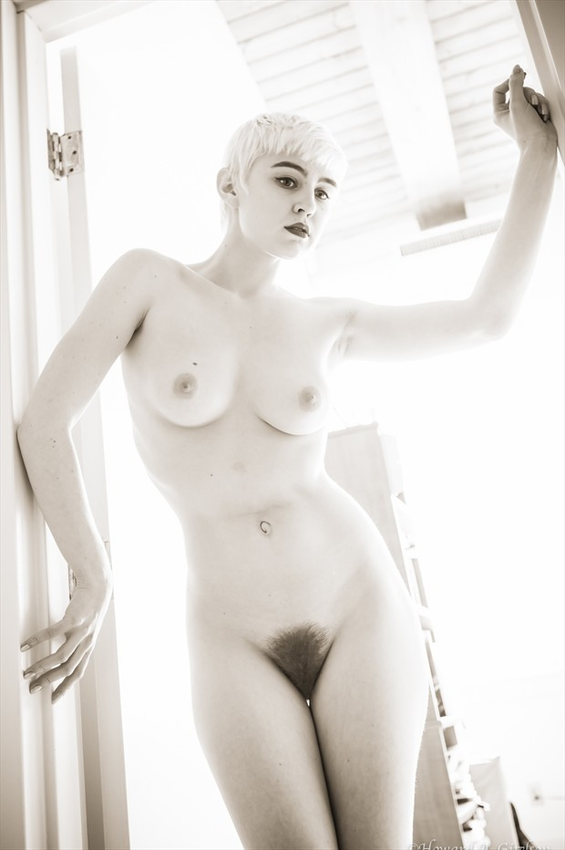Lo, beautiful in back lighting Artistic Nude Photo print by Photographer HGitel