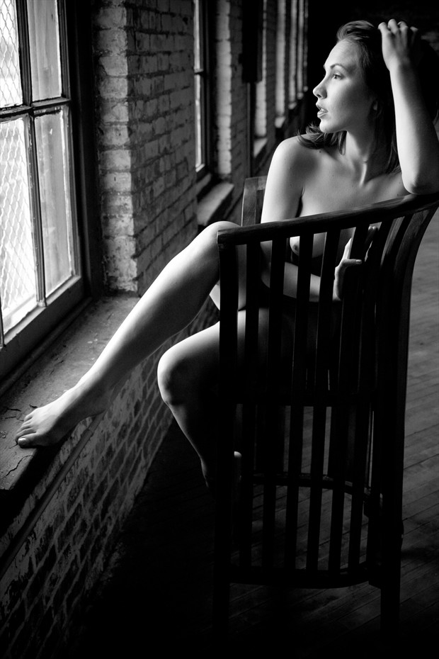 Looking Out The Window Artistic Nude Photo print by Photographer 3 Graces Photography