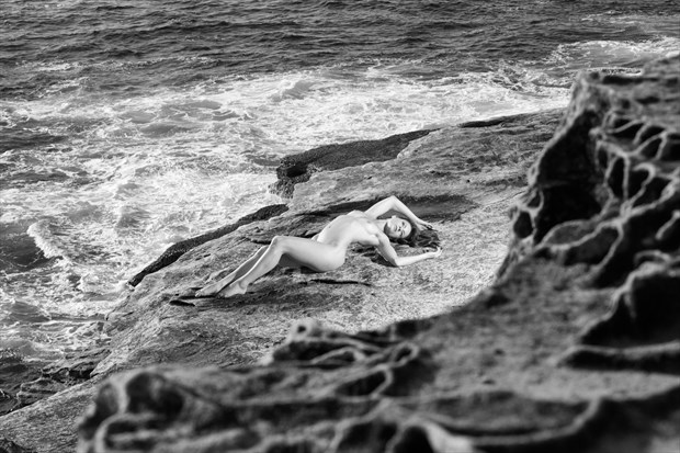 Lying on Rocks Artistic Nude Photo print by Photographer Stephen Wong