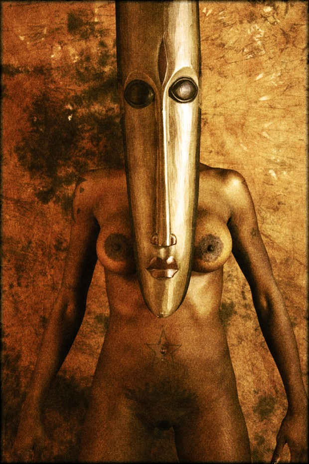 Mask Artistic Nude Photo print by Photographer Cactusprick
