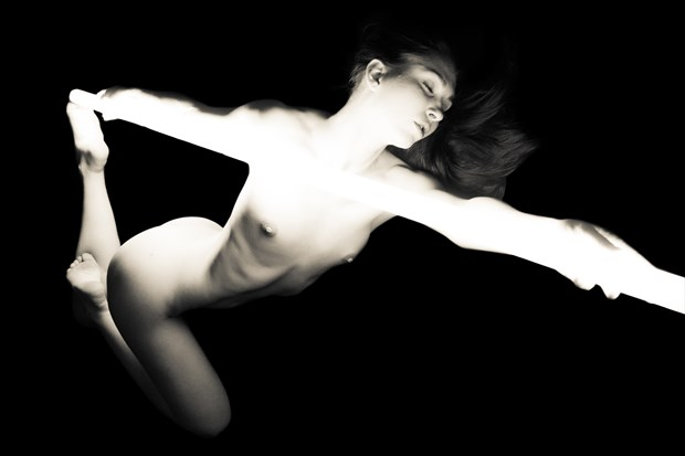 Melissa and the Light Tube Artistic Nude Photo print by Artist Freddie Graves