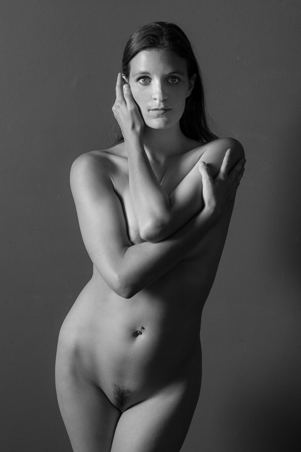 Mila Standing Nude Portrait Artistic Nude Photo print by Photographer Risen Phoenix