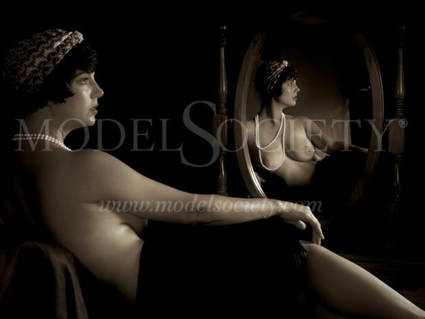 Mirror Image Artistic Nude Photo print by Photographer John Matthews