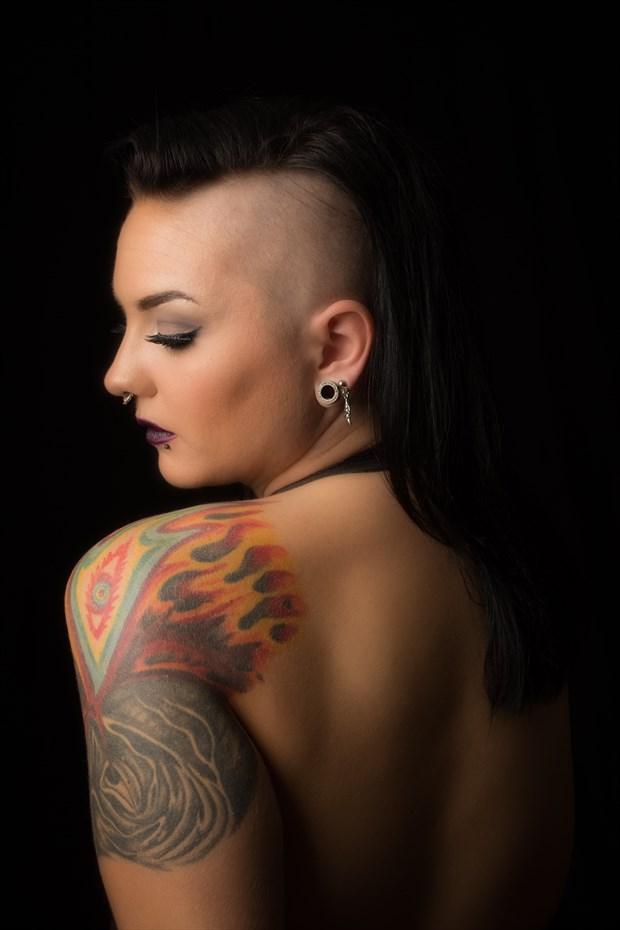 Miss Harley Von Fierce Tattoos Photo print by Photographer Frisson Art