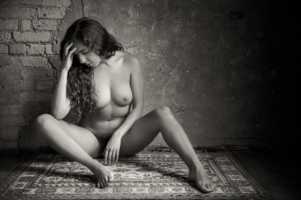 Monique Seated Nude Artistic Nude Photo print by Photographer Risen Phoenix