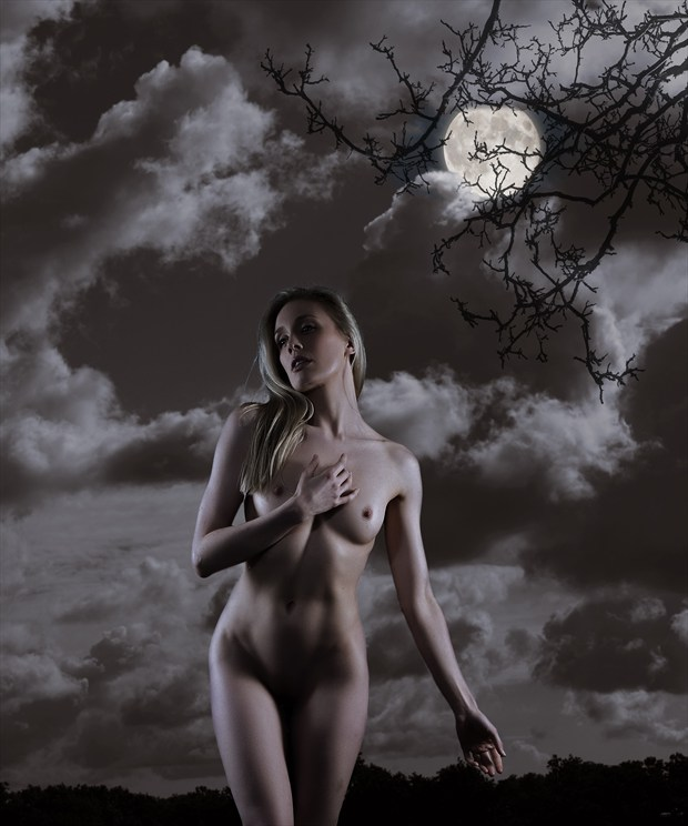 Moonlight Artistic Nude Photo print by Photographer Ray Kirby