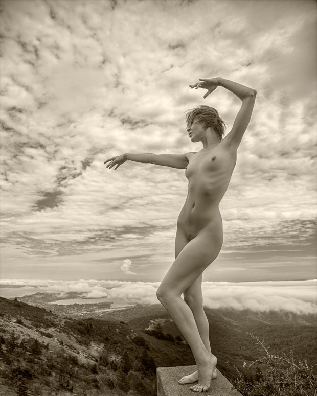Mountain Top Artistic Nude Photo print by Photographer Dan West