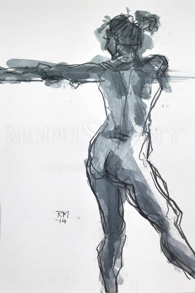 Move On Up Artistic Nude Artwork print by Artist Rob MacGillivray