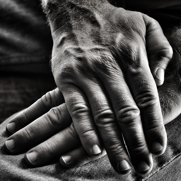 My Hands Close Up Photo print by Photographer rdp