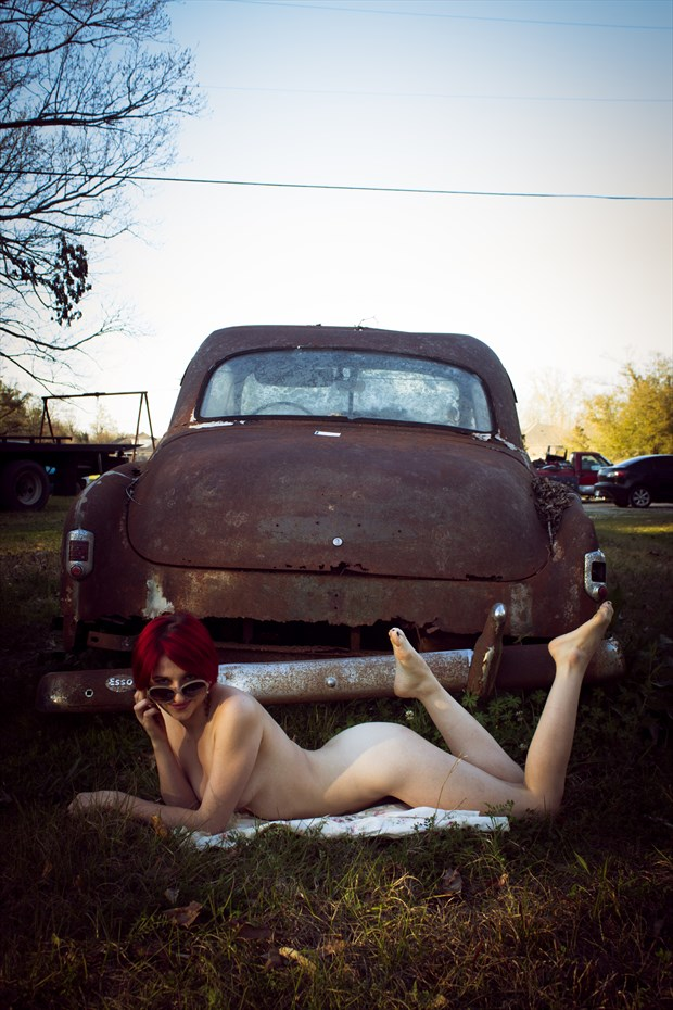 My baby just cares for me Artistic Nude Photo print by Photographer Frisson Art