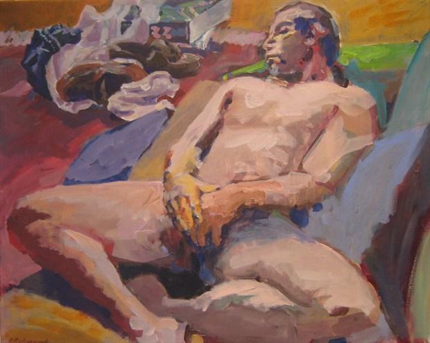 Naked Nap Artistic Nude Artwork print by Artist paulryb