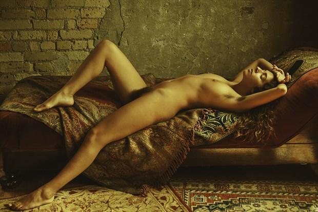 Neo Classic Reclining Nude Artistic Nude Photo print by Photographer Risen Phoenix