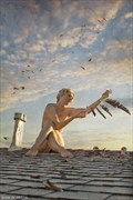 Never meant to fly Artistic Nude Photo print by Photographer balm in Gilead