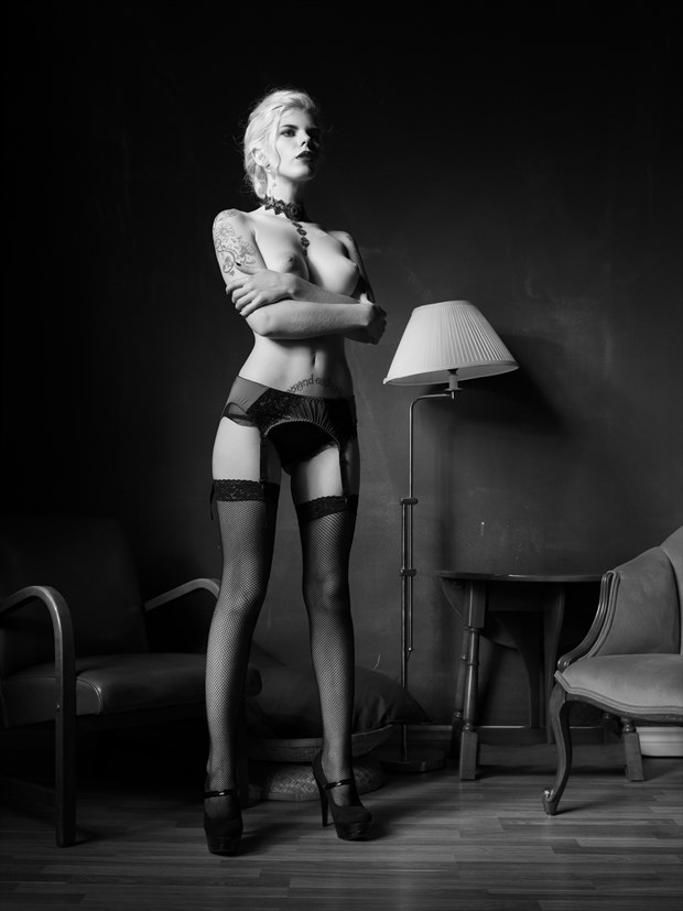 Newtonesque %231 Artistic Nude Photo print by Photographer Bruce M Walker