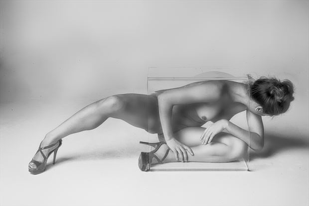 Nothing But Her Shoes Artistic Nude Photo print by Photographer Philip Turner