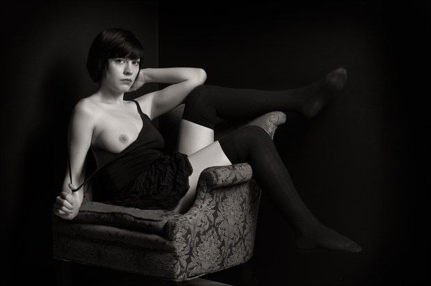 Off shoulder Artistic Nude Photo print by Photographer Bruce M Walker