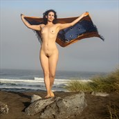 Offshore Breezes Artistic Nude Photo print by Artist AnneDeLion