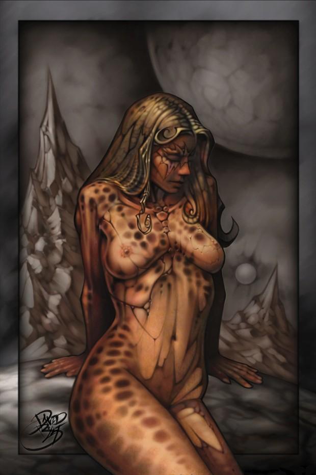 Olympus Mons Artistic Nude Artwork print by Artist David Bollt