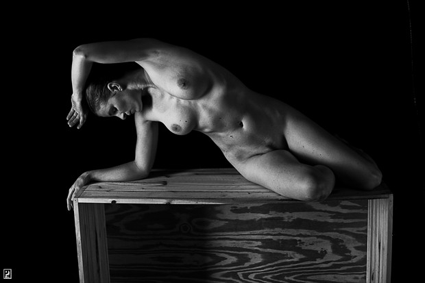 On the box   classic Artistic Nude Photo print by Photographer Thom Peters Photog