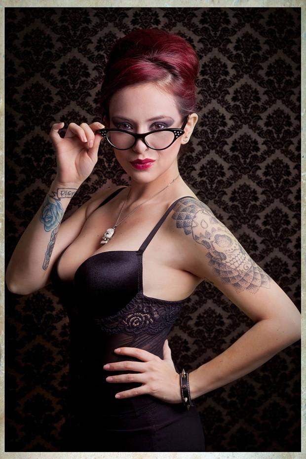 Paula La Rouge Glamour Photo print by Photographer Rafael Mesa