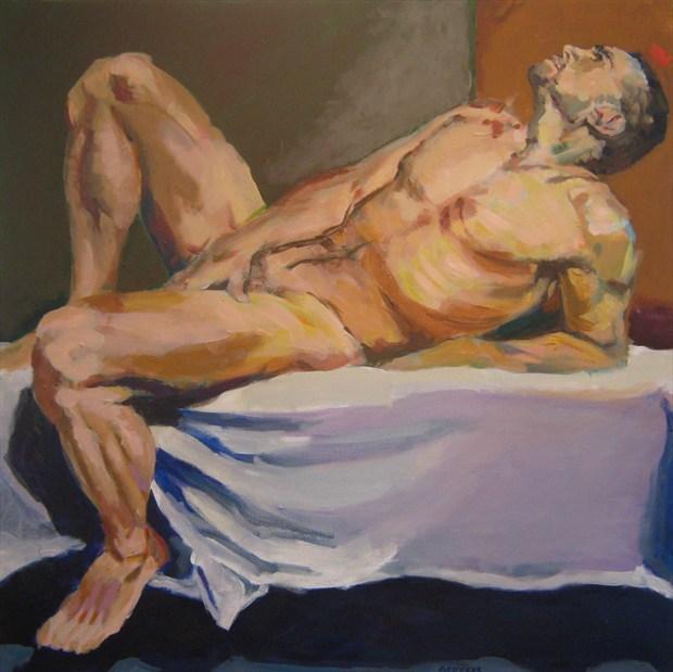 Payton Squared Artistic Nude Artwork print by Artist paulryb