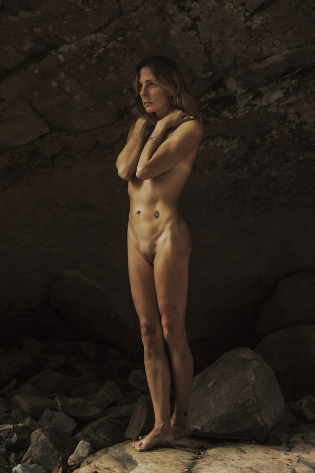 Pensive Artistic Nude Photo print by Photographer CurvedLight