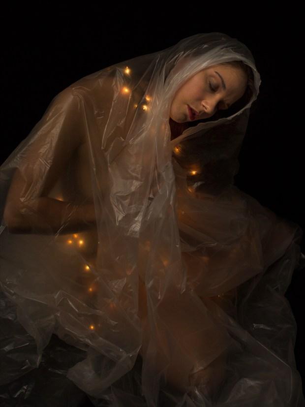Plastic Wrapped Madonna Studio Lighting Photo print by Photographer ShadowandLightPhotos