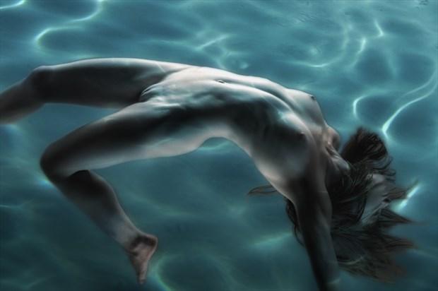 Pool Play Artistic Nude Photo print by Photographer rick jolson