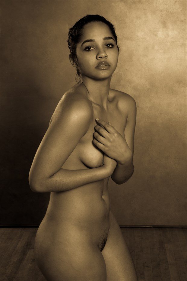 Portrait of a Young Woman Artistic Nude Photo print by Photographer Risen Phoenix