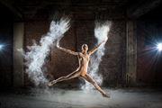 Powder Ballet  Artistic Nude Photo print by Photographer Al Fess