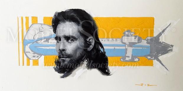 President Baltar (Art of Battlestar Galactica) Portrait Artwork print by Artist ShunXie