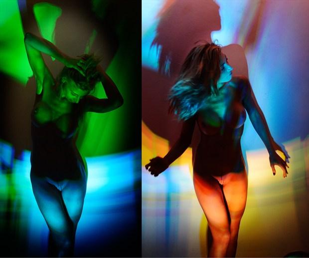 Primal Abandon Artistic Nude Photo print by Photographer Mark Bigelow