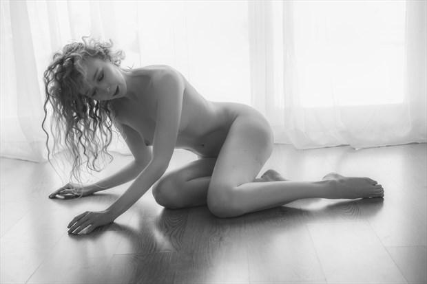 Prone Artistic Nude Photo print by Photographer John Logan