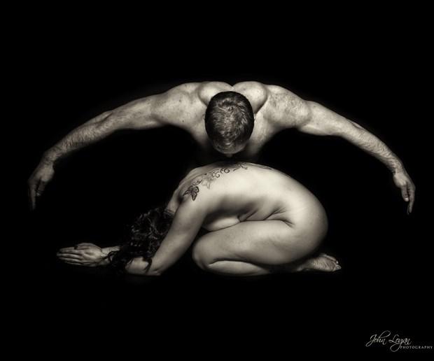 Protection Artistic Nude Photo print by Photographer John Logan