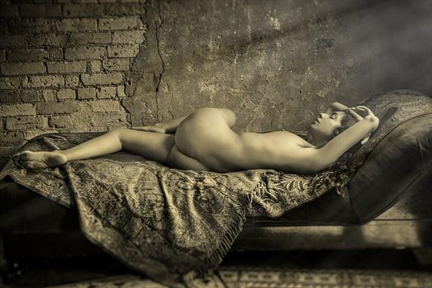 Reclining Nude  Artistic Nude Photo print by Photographer Risen Phoenix