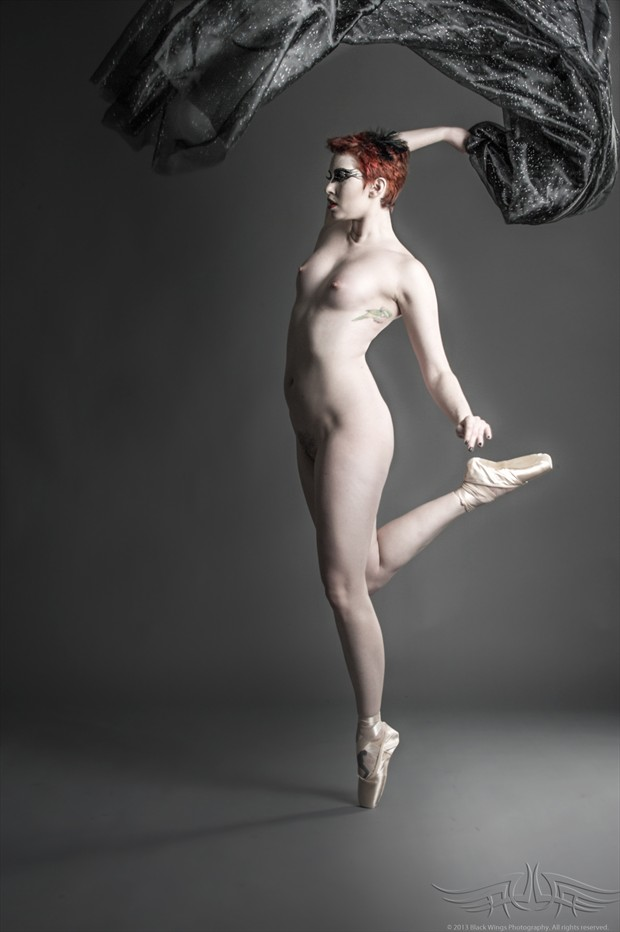 Red Bird's Song Artistic Nude Photo print by Photographer Black Wings
