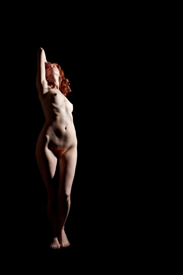 Red Sonia in shadow Artistic Nude Photo print by Photographer pblieden