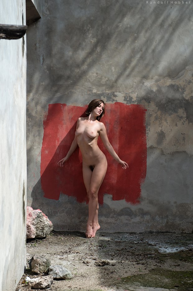 Red Square Artistic Nude Photo print by Photographer Randall Hobbet