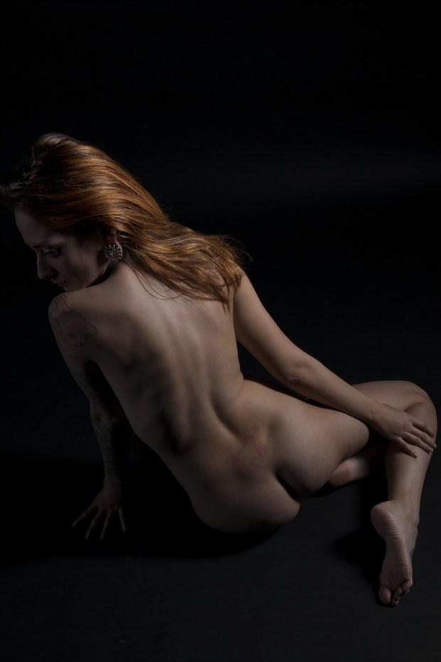 Red high light Artistic Nude Photo print by Photographer Tommy 2's