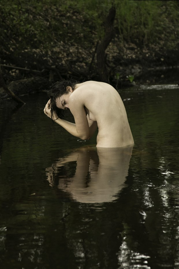 Reflecting Artistic Nude Artwork print by Photographer Chris Gursky