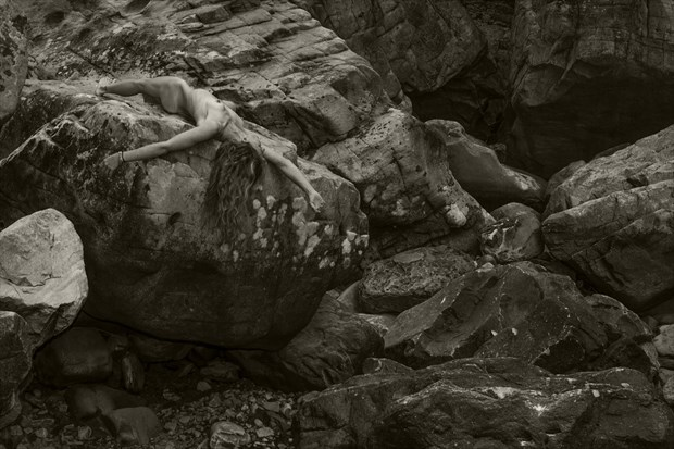 Rock Garden I Artistic Nude Photo print by Photographer CurvedLight