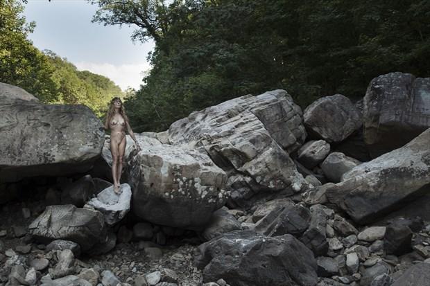 Rock Garden II Artistic Nude Photo print by Photographer CurvedLight